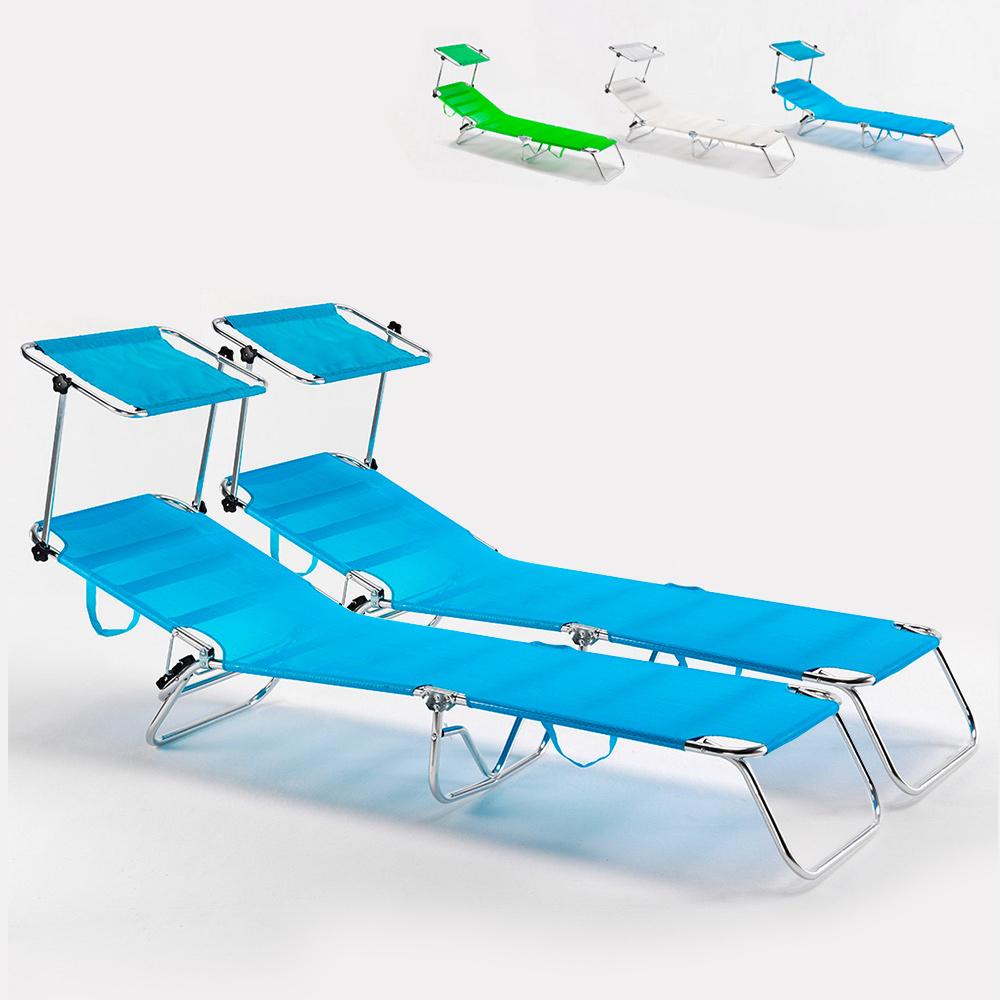 2 strandbäddar havsfällbar aluminium hopfällbar säng Cancun