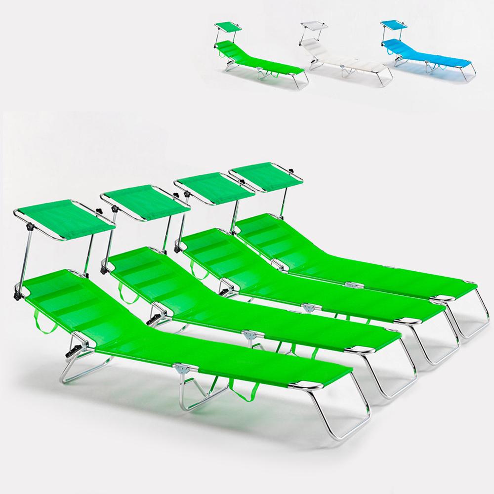 4 strandbäddar havsfällbar aluminium hopfällbar säng Cancun
