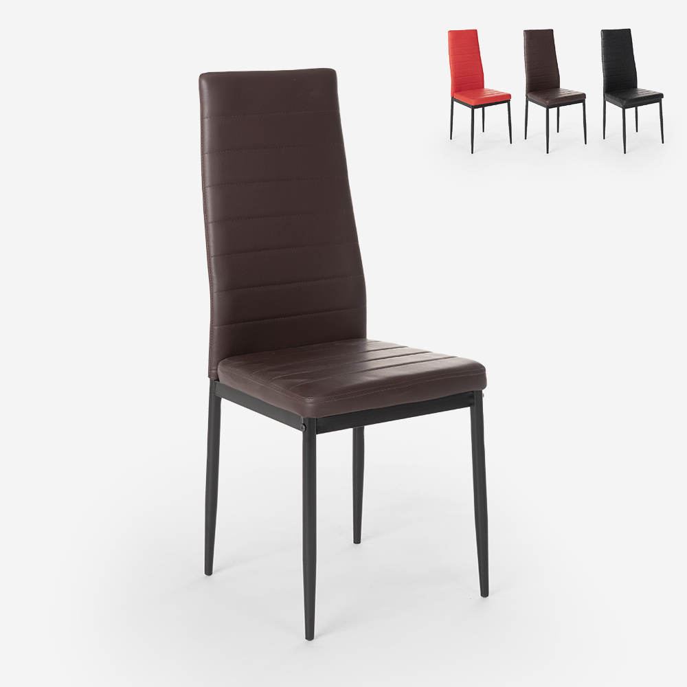 Vadderade stolar med modern design för kök matsal restaurang Imperial Dark